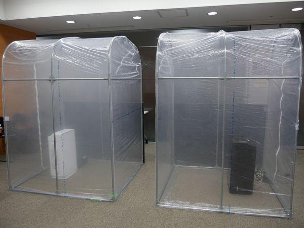 右のほうが48畳タイプ。透明度がほんの少し高い